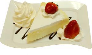 Vanilla Cake and Strawberry Fake Dessert Plate