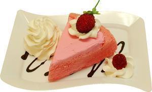 Fake Raspberry Cake Fake Dessert Plate Display Prop