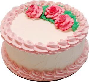 Pale Pink Rose Blank Fake Cake