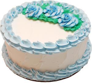 Pale Blue Rose Blank Fake Cake