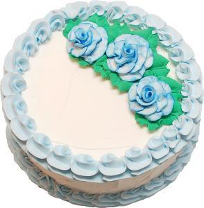 Pale Blue Rose Blank Fake Cake top