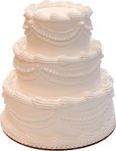 Wedding Fake Cake Three Tier Stacked White 9 Inch