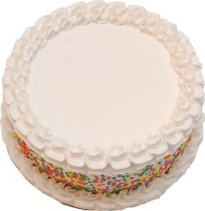 Celebration Vanilla Fake Cake 9 inch BLANK top