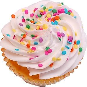 Vanilla Sprinkle Fake Cupcake top
