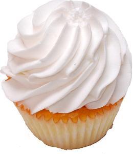 Fake White Plain Cupcake