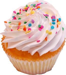 Vanilla Sprinkle Fake Cupcake
