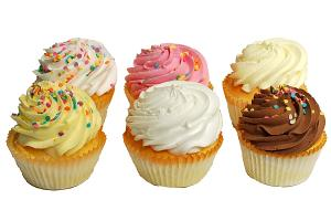 Fake Cupcakes 6 Pack Assortment Hand Made side
