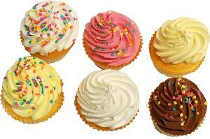 Fake Cupcakes 6 Pack Assortment TOP