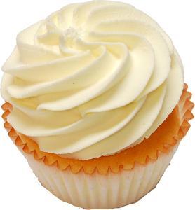 Yellow Fake Cupcake