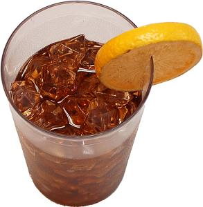 Ice Tea Fake Drink Plastic Cup with Lemon top