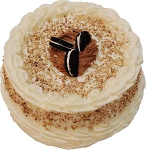 Vanilla Creamed Filled Cookie Fake Cake 9 inch top
