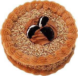 Mocha Creamed Filled Cookie Fake Cake 9 inch top