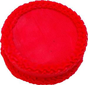 Fake Ruby Red Cake Blank 9 inch top
