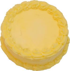 Fake Spring Yellow Cake Blank 9 inch top
