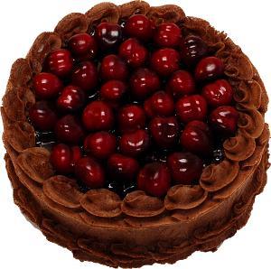 Cherry Top Chocolate Fake Cake 9 inch top