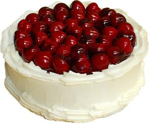 Cherry Top Vanilla Fake Cake 9 inch