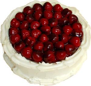 Cherry Top Vanilla Fake Cake 9 inch top