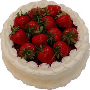Strawberry Top Vanilla Fake Cake 9 inch top