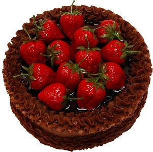 Strawberry Top Chocolate Fake Cake 9 inch top