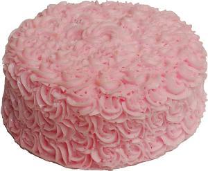 """Artificial Pink Rose Cake 9"""""""