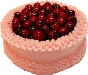 Cherry Top Pink Fake Cake 9 inch