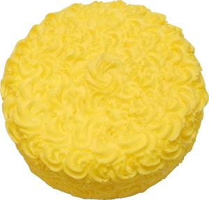 Artificial Spring Yellow Rose Cake 9 inch top