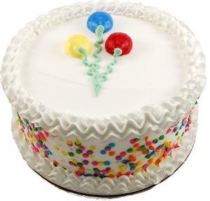 Celebration Vanilla Fake Cake 9 inch