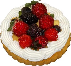 Berry Fruit fake Tart 5 inch USA