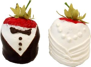 Bride and Groom fake dipped strawberry USA