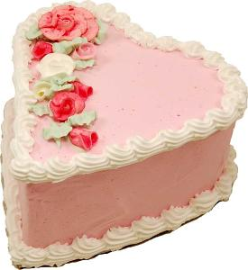 Heart Fake Cake 7 inch USA