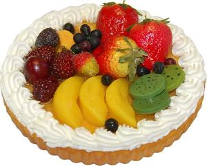 Mixed Fruit Fake Tart 8 inch USA