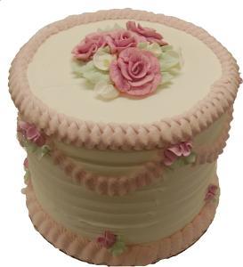 Pink Lace Tall Cake 9 inch USA