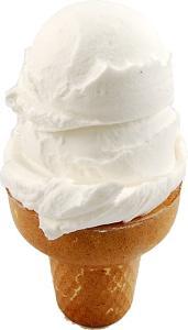 Vanilla 2 Scoop Fake Ice Cream Cone