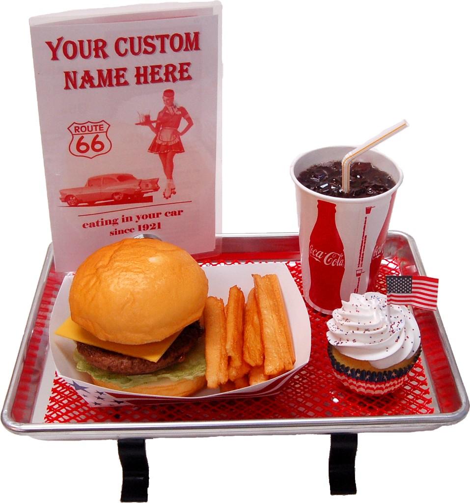 Small Car Hop Fake Food Tray Cheeseburger Set