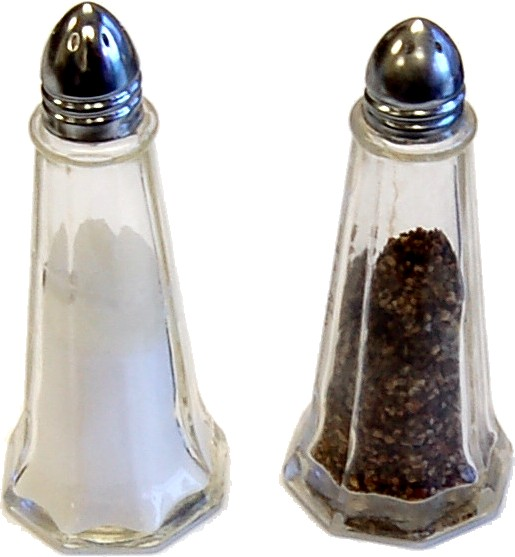 Fake Food Salt and Pepper shakers