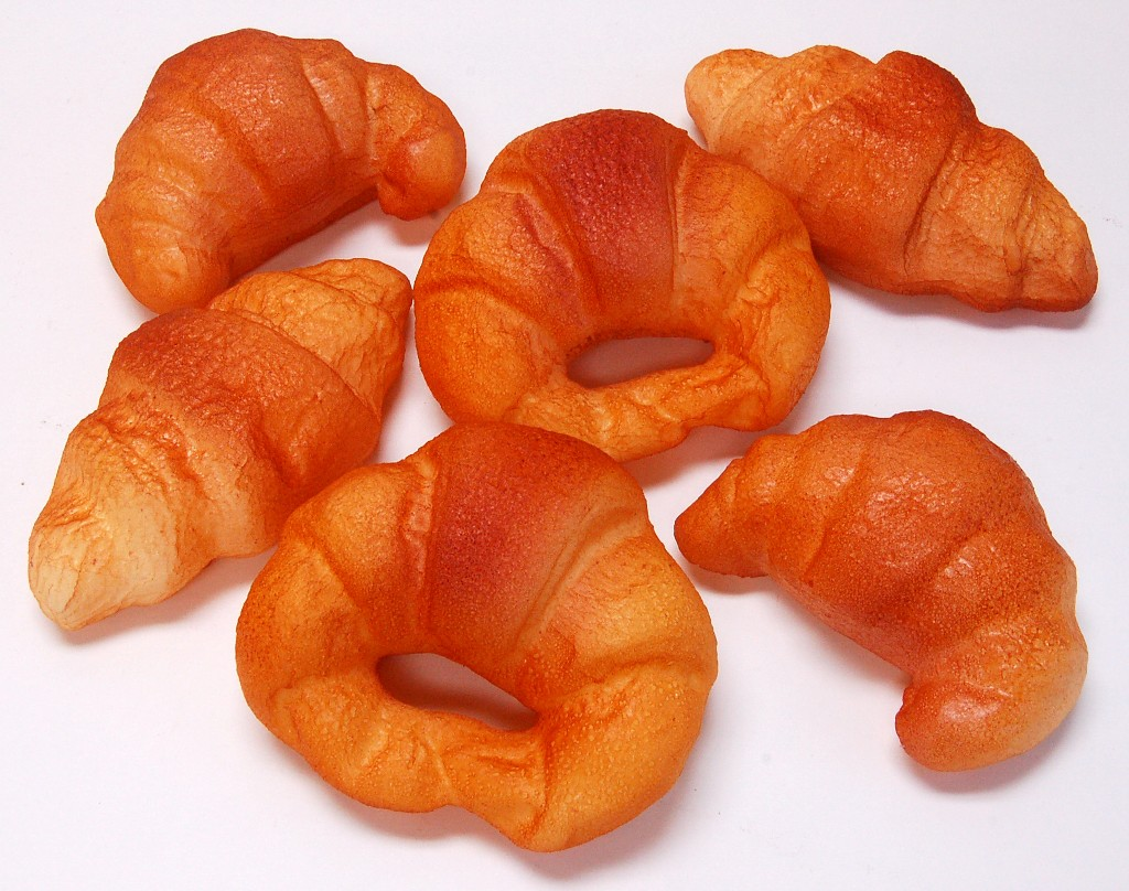 Croissants 6 pack Assorted Fake Bread