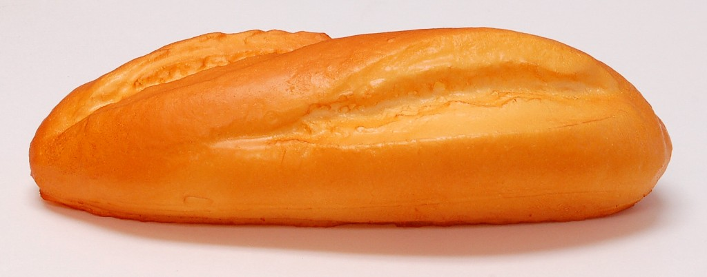 French Bread Roll 8 inch Fake Bread Soft Touch side