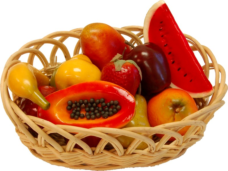Assorted Fruits 14 Piece with Basket