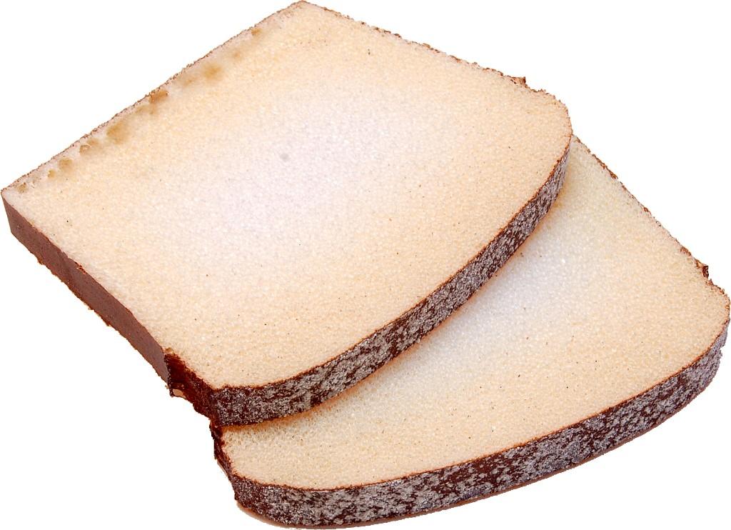 Rustic Fake Bread Wheat Slice 2 Piece