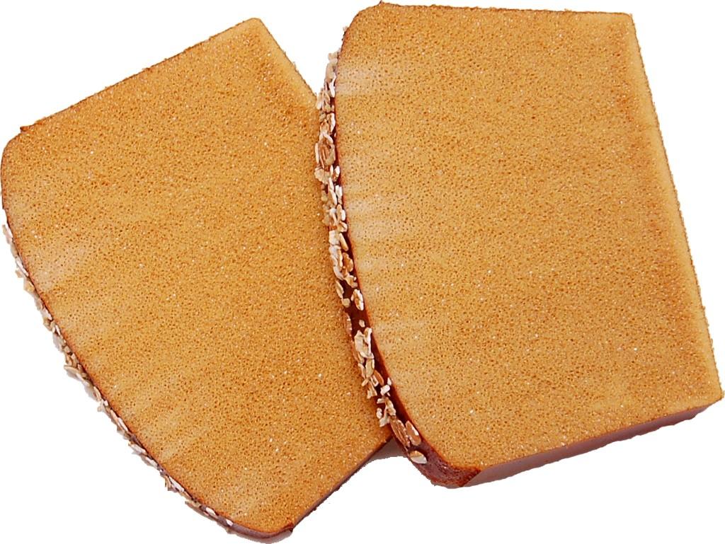 Artisan Fake Bread Wheat Loaf Slice 2 Piece Top