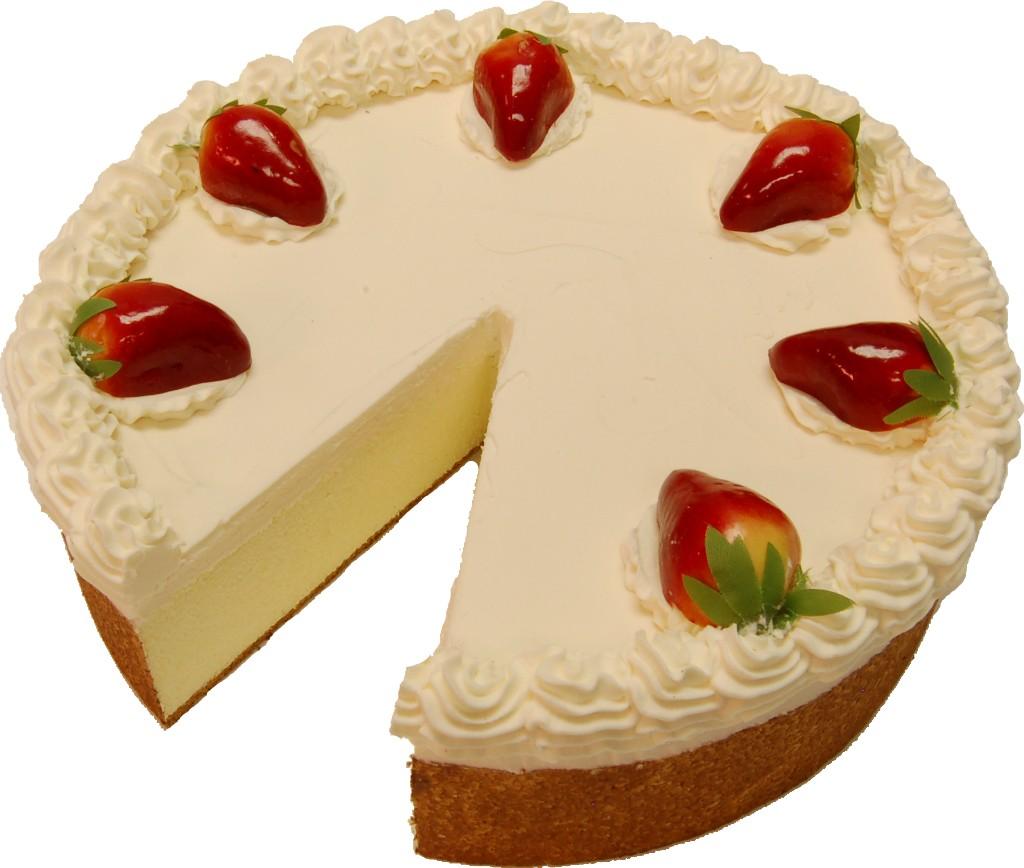 fake strawberry cheesecake