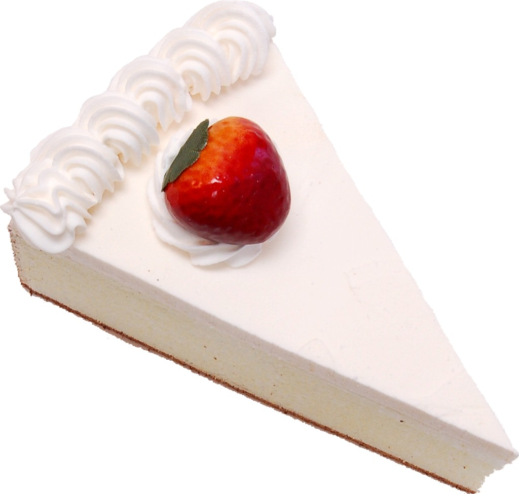 Strawberry Fake Cheesecake Slice top