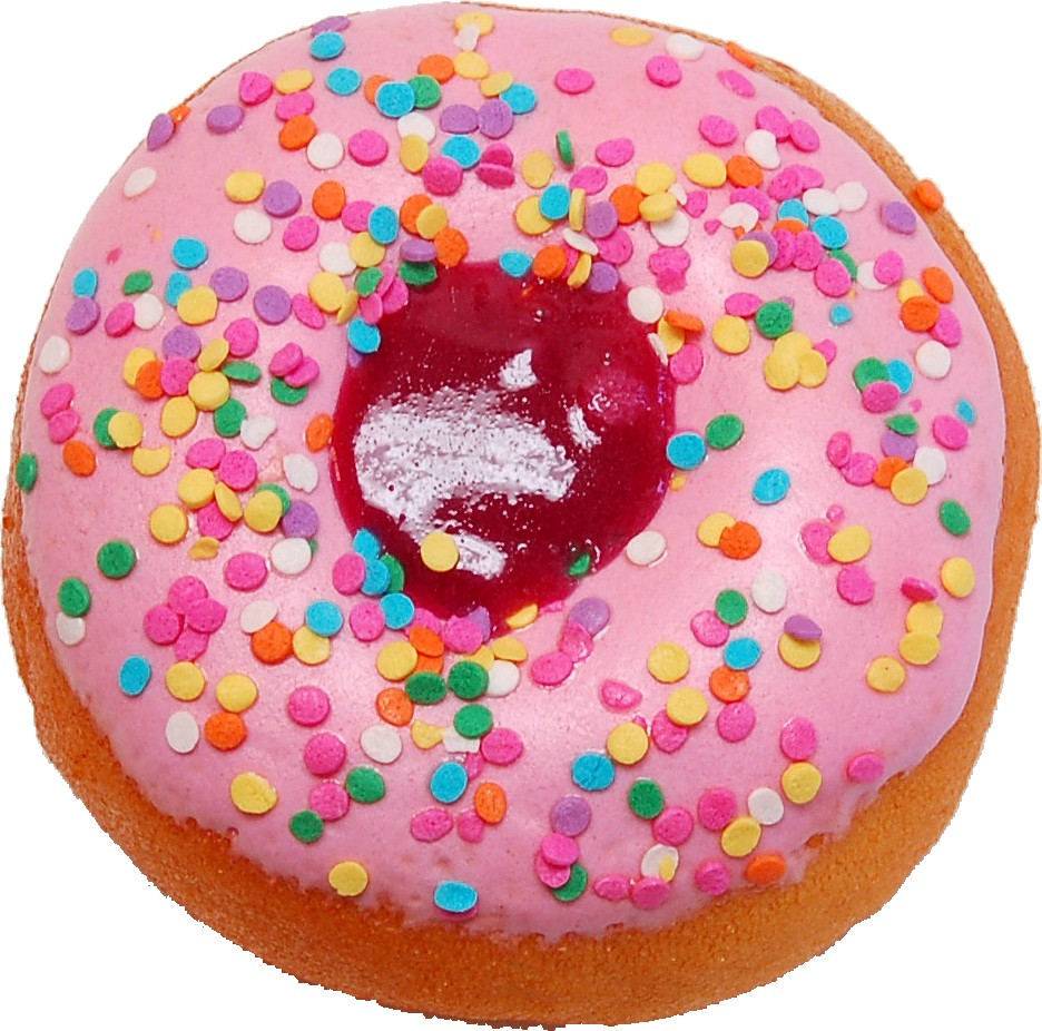 Large Pink Fake Jelly Doughnut Soft Touch top
