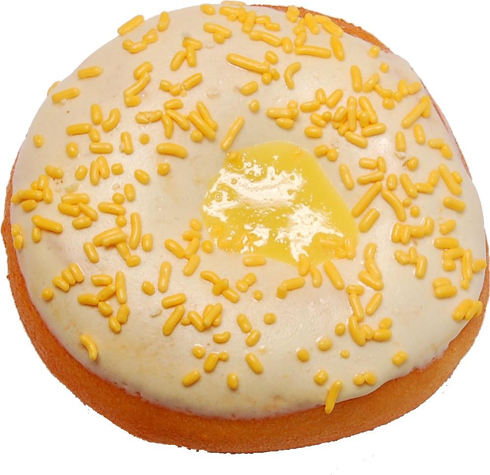 Large Fake Lemon Custard Doughnut Soft Touch top