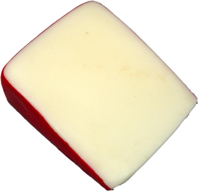 fake fontina cheese wedge