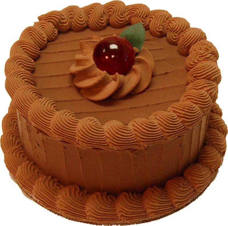 """Mocha 6"""" Fake Cake Side"""