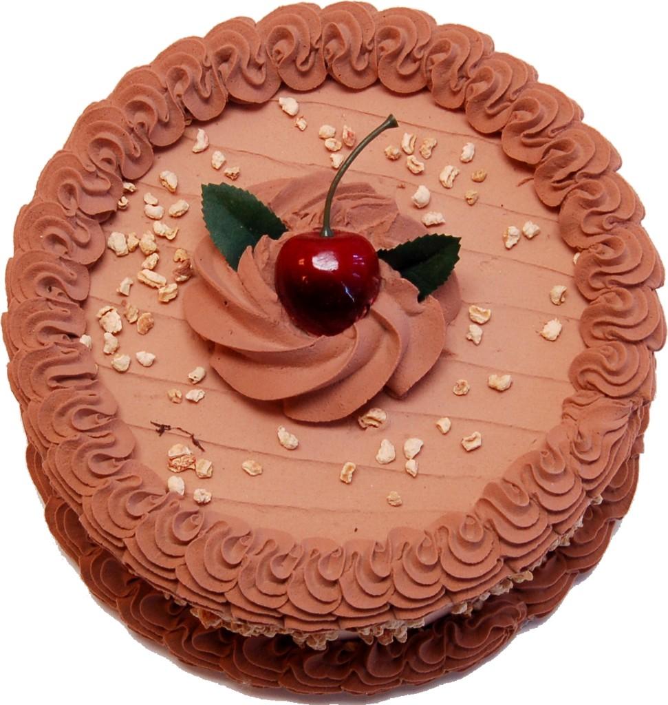 Mocha Fake Cake 7 Inch Top