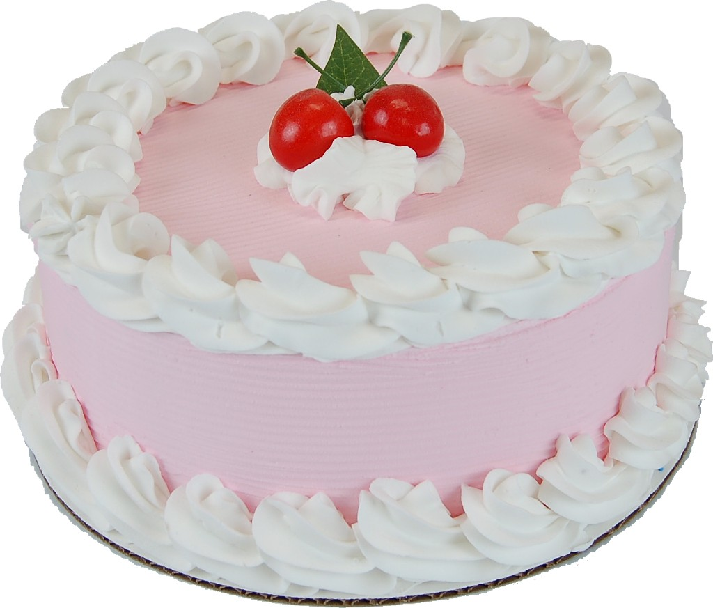 Cherry Fake Cake 9 inch top