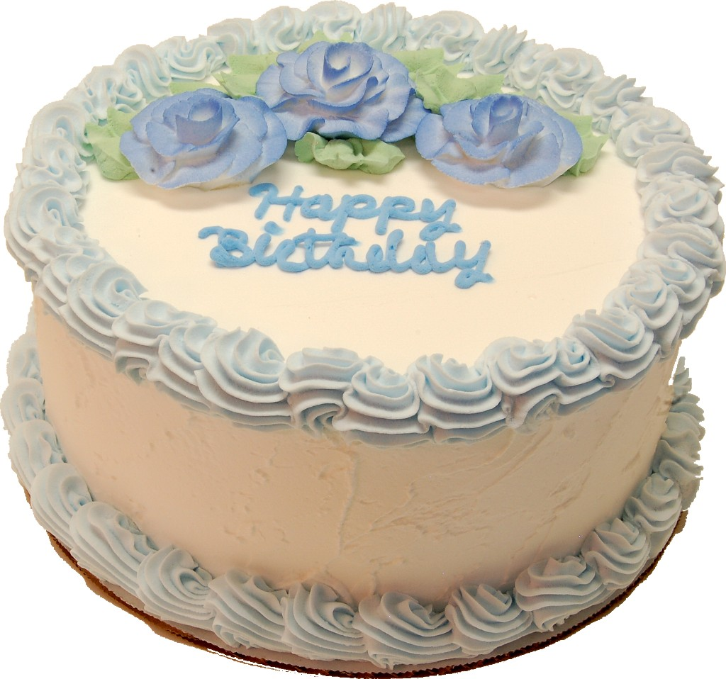 Blue Birthday fake cake