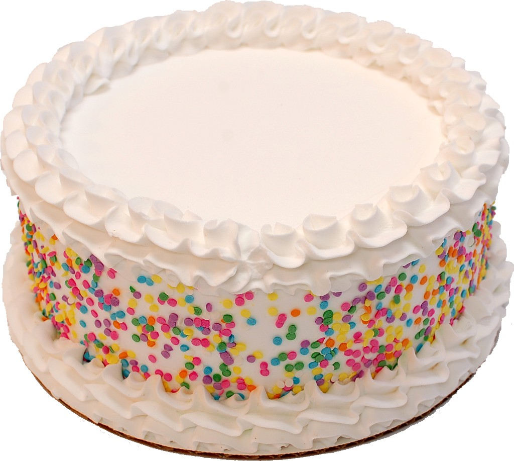 Celebration Vanilla Fake Cake 9 inch BLANK